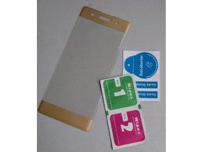 3D tvrzené sklo na Sony XZ s rámečkem zlaté