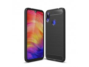 eng pl Carbon Case Flexible Cover TPU Case for Xiaomi Redmi Note 7 black 47099 1