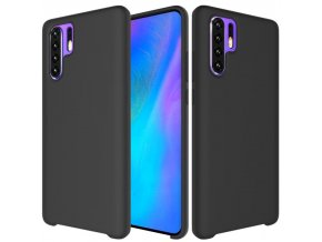 eng pl Silicone Case Soft Flexible Rubber Cover for Huawei P30 Pro black 47367 1
