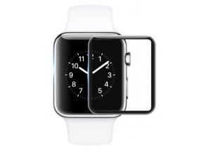 3D Tvrzené sklo na Apple Watch 42x36mm - černé