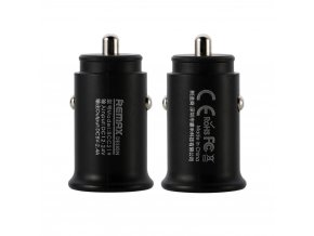 eng pl Remax Roki Series Car Charger RCC219 Mini Universal Car Charger 2x USB 2 4A black 46723 1