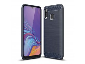 eng pl Carbon Case Flexible Cover TPU Case for Samsung Galaxy A40 blue 50240 1