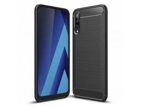 eng pl Carbon Case Flexible Cover TPU Case for Samsung Galaxy A70 black 50242 1