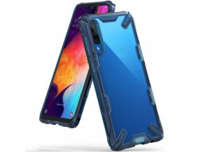 eng pl Ringke Fusion X durable PC Case with TPU Bumper for Samsung Galaxy A50 blue FUSG0022 50074 1