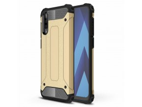 eng pl Hybrid Armor Case Tough Rugged Cover for Samsung Galaxy A50 golden 50115 1