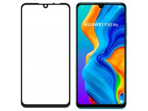 eng pl Wozinsky Tempered Glass Full Glue Super Tough Screen Protector Full Coveraged with Frame Case Friendly for Huawei P30 Lite black 47065 2