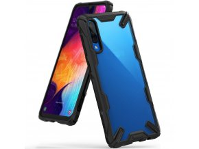 eng pl Ringke Fusion X durable PC Case with TPU Bumper for Samsung Galaxy A50 black FUSG0021 50073 1