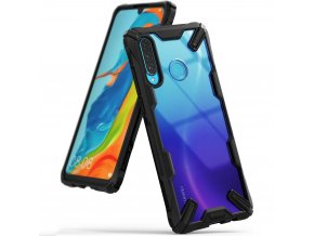 eng pl Ringke Fusion X durable PC Case with TPU Bumper for Huawei P30 Lite black FXHW0017 50554 1