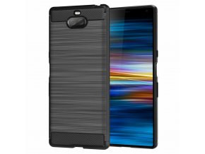 eng pl Carbon Case Flexible Cover TPU Case for Sony Xperia XA3 black 50250 1