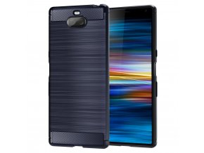 eng pl Carbon Case Flexible Cover TPU Case for Sony Xperia XA3 blue 50251 1