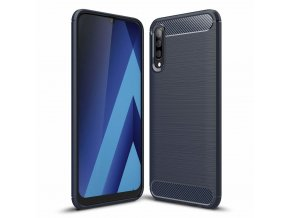 eng pl Carbon Case Flexible Cover TPU Case for Samsung Galaxy A50 blue 49022 1