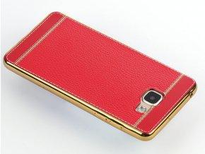 Silikonovo koženkový kryt na Samsung Galaxy A3 2016