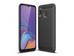 eng pl Carbon Case Flexible Cover TPU Case for Samsung Galaxy A40 black 50239 1