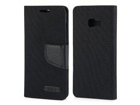 Canvas peněženkové pouzdro na Samsung A3 2017 černé