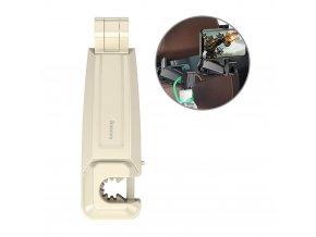 eng pl Baseus Car Rear Seat Headrest Phone Bracket Holder hook for 4 0 6 5 inch Smartphone khaki SUHZ A11 49705 20