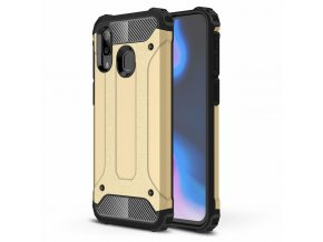 eng pl Hybrid Armor Case Tough Rugged Cover for Samsung Galaxy A40 golden 50377 1
