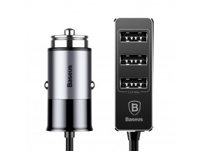 eng pl Baseus Enjoy Together Car Charger with Extension 4x USB 5 5A grey 37937 1