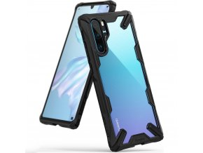 eng pl Ringke Fusion X durable PC Case with TPU Bumper for Huawei P30 Pro black FXHW0015 49018 1