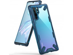 eng pl Ringke Fusion X durable PC Case with TPU Bumper for Huawei P30 Pro blue FXHW0016 49019 1