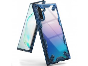 eng pl Ringke Fusion X durable PC Case with TPU Bumper for Samsung Galaxy Note 10 blue FUSG0028 52398 1