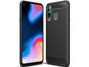 eng pl Carbon Case Flexible Cover TPU Case for Huawei Honor 20 Lite black 51826 1