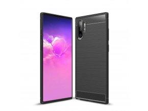 eng pl Carbon Case Flexible Cover TPU Case for Samsung Note 10 Plus black 51823 1