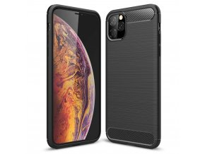 eng pl Carbon Case Flexible Cover TPU Case for iPhone XI 5 8 black 52072 1
