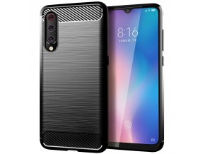 eng pl Carbon Case Flexible Cover TPU Case for Xiaomi Mi A3 Xiaomi Mi CC9E black 52067 1