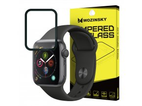 eng pl Wozinsky Tempered Glass Full Glue Super Tough Screen Protector Full Coveraged with Frame Case Friendly for Apple Watch 4 40mm black 46587 1
