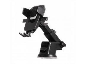 Teleskopický držák do auta na palubní desku nebo na čelní sklo - černý