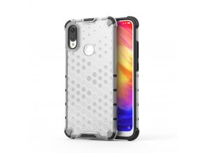 eng pl Honeycomb Case armor cover with TPU Bumper for Xiaomi Redmi Note 7 transparent 53893 1
