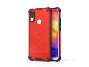 eng pl Honeycomb Case armor cover with TPU Bumper for Xiaomi Redmi Note 7 red 53892 1