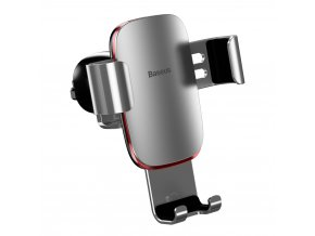 eng pl Baseus Metal Age Gravity Car Mount Phone Holder for Air Outlet silver SUYL D0S 46823 1