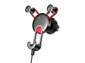 eng pl Baseus YY vehicle mounted phone gravity holder with charging USB Type C cable Red SUTYY 09 50570 26