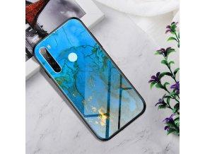 eng pl Glass case Gradient Color XIAOMI REDMI NOTE 8 blue gold 64655 1