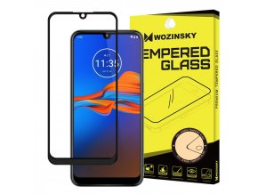 eng pl Wozinsky Tempered Glass Full Glue Super Tough Screen Protector Full Coveraged with Frame Case Friendly for Motorola Moto E6 Plus transparent 55460 1