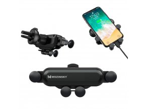 eng pl Wozinsky Gravity Car Mount Phone Holder for Air Outlet black WCH 01 53758 1 (1)