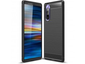 eng pl Case SONY XPERIA 5 Armored Carbon Case black 65792 9