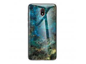 eng pl XIAOMI REDMI 8A Glass case Art Marble Emerald 65709 1