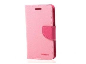 PU kožené pouzdro na LG K10 růžové