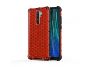 eng pl Honeycomb Case armor cover with TPU Bumper for Xiaomi Redmi Note 8 Pro red 55397 1