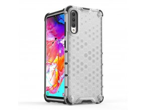eng pl Honeycomb Case armor cover with TPU Bumper for Samsung Galaxy A70 transparent 53848 1