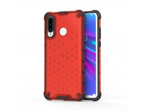 eng pl Honeycomb Case armor cover with TPU Bumper for Huawei P30 Lite red 53877 1