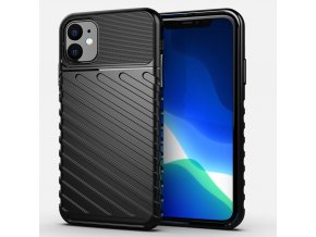 eng pl Thunder Case Flexible Tough Rugged Cover TPU Case for iPhone 11 black 56335 1