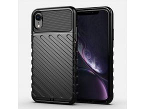 eng pl Thunder Case Flexible Tough Rugged Cover TPU Case for iPhone XR black 56331 1