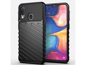eng pl Thunder Case Flexible Tough Rugged Cover TPU Case for Samsung Galaxy A20e black 56360 1
