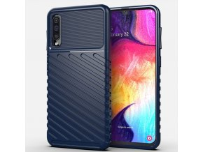 eng pl Thunder Case Flexible Tough Rugged Cover TPU Case for Samsung Galaxy A50 blue 56353 1