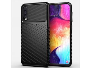 eng pl Thunder Case Flexible Tough Rugged Cover TPU Case for Samsung Galaxy A50 black 56352 1