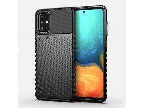 eng pl Thunder Case Flexible Tough Rugged Cover TPU Case for Samsung Galaxy A71 black 56364 1