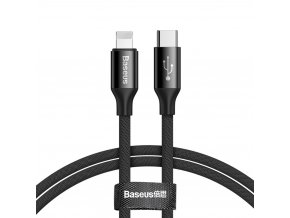 eng pl Baseus Yiven USB C Lightning Cable with Material Braid 2A 1M black CATLYW C01 48990 1